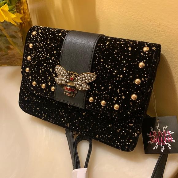 Olivia Miller Handbags - New Queen Bee Black Purse